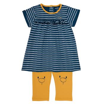 Textiel Meisjes Korte jurken Noukie's AYOUB Blauw / Geel
