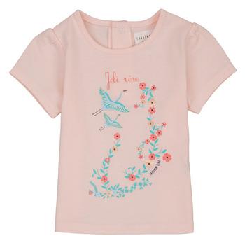 Textiel Meisjes T-shirts korte mouwen Carrément Beau NOLAN Roze