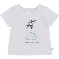Textiel Jongens T-shirts korte mouwen Carrément Beau MARTINEZ Wit