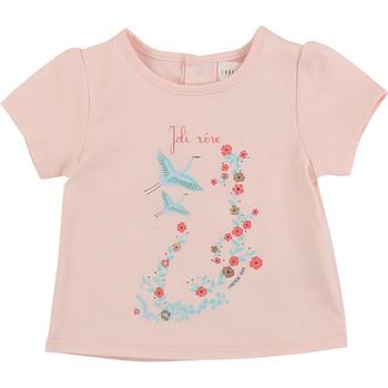 Textiel Meisjes T-shirts korte mouwen Carrément Beau JUSTINE Roze