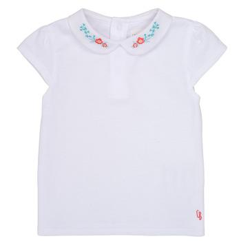 Textiel Meisjes T-shirts korte mouwen Carrément Beau JULIEN Wit