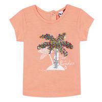 Textiel Meisjes T-shirts korte mouwen 3 Pommes EMMA Oranje