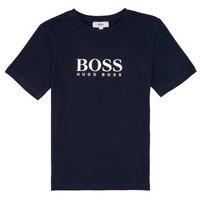 Textiel Jongens T-shirts korte mouwen BOSS PILIO Blauw