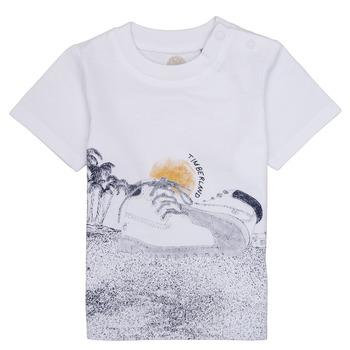 Textiel Jongens T-shirts korte mouwen Timberland ANTONIN Wit