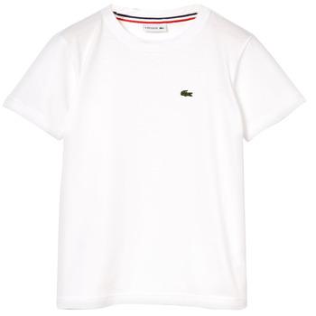 Textiel Jongens T-shirts korte mouwen Lacoste NAE Wit