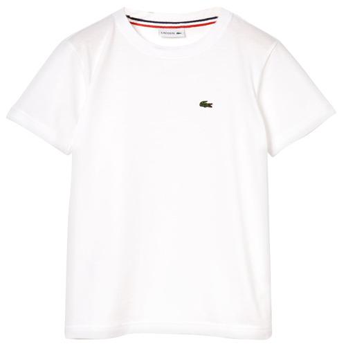 Textiel Jongens T-shirts korte mouwen Lacoste ALIZE Wit