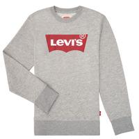 Textiel Jongens Sweaters / Sweatshirts Levi's BATWING CREWNECK Grijs
