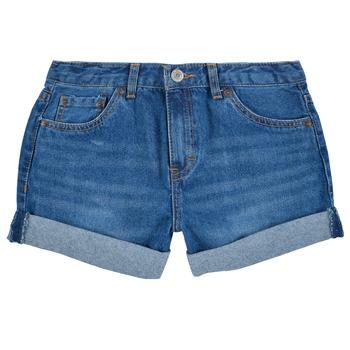 Textiel Meisjes Korte broeken / Bermuda's Levi's GIRLFRIEND SHORTY SHORT Blauw