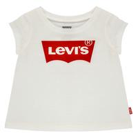 Textiel Meisjes T-shirts korte mouwen Levi's BATWING TEE Wit