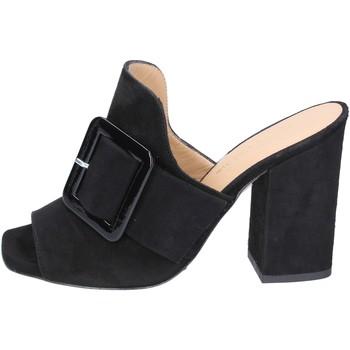Schoenen Dames Leren slippers Broccoli Sandalen BP304 ,