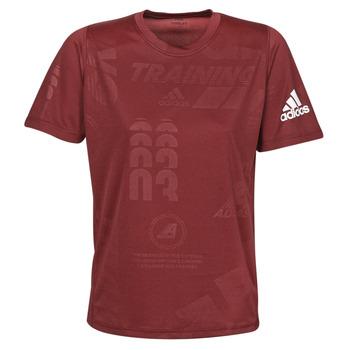 Textiel Heren T-shirts korte mouwen adidas Performance DAILY PRESS TEE Rood
