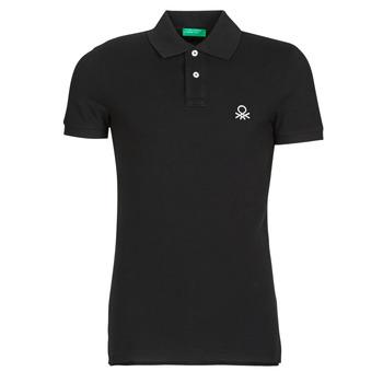 Textiel Heren Polo's korte mouwen Benetton MARNELLI Zwart