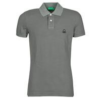 Textiel Heren Polo's korte mouwen Benetton MARADI Grijs