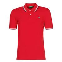 Textiel Heren Polo's korte mouwen Benetton GUERY Rood