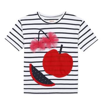 Textiel Meisjes T-shirts korte mouwen Catimini KUSY Wit