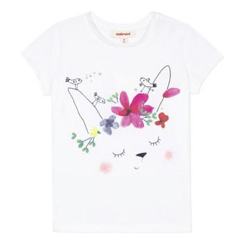 Textiel Meisjes T-shirts korte mouwen Catimini MAE Wit
