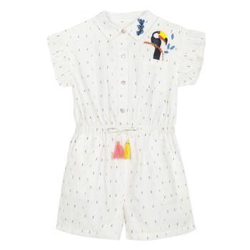 Textiel Meisjes Jumpsuites / Tuinbroeken Catimini LUCIUS Wit