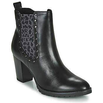 Schoenen Dames Enkellaarzen Caprice LUTIMA Zwart