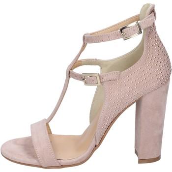 Schoenen Dames Sandalen / Open schoenen Olga Rubini sandali camoscio sintetico borchie Rosa