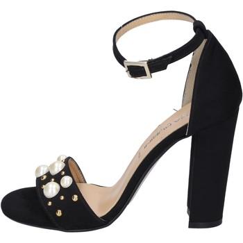 Schoenen Dames Sandalen / Open schoenen Olga Rubini sandali camoscio sintetico borchie Nero
