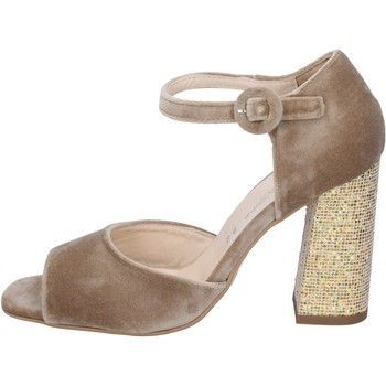Schoenen Dames Sandalen / Open schoenen Olga Rubini sandali velluto Beige