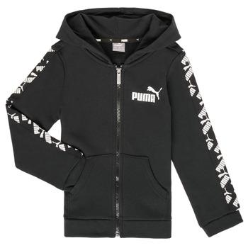 Textiel Jongens Sweaters / Sweatshirts Puma AMPLI HOOD JKT Zwart