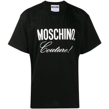 Textiel Heren T-shirts korte mouwen Love Moschino ZA0710 Zwart