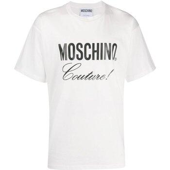 Textiel Heren T-shirts korte mouwen Love Moschino ZA0710 Wit