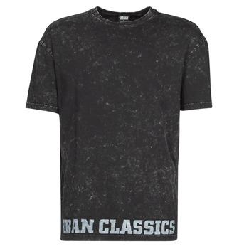 Textiel Heren T-shirts korte mouwen Urban Classics TOBI Zwart