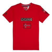 Textiel Jongens T-shirts korte mouwen Geographical Norway JIRI Rood