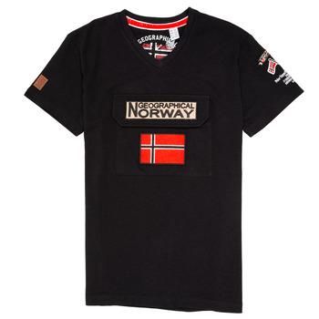 Textiel Jongens T-shirts korte mouwen Geographical Norway JIRI Zwart