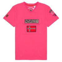 Textiel Jongens T-shirts korte mouwen Geographical Norway JIRI Roze