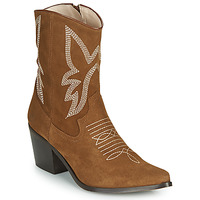 Schoenen Dames Enkellaarzen Betty London MOSSINO Camel