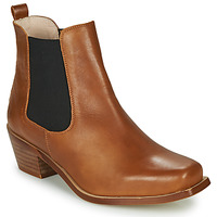 Schoenen Dames Enkellaarzen Betty London MERKATO Cognac