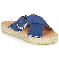 Schoenen Dames Leren slippers Betty London MARIZETTE Marine