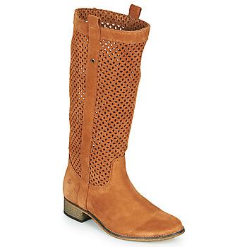 Schoenen Dames Hoge laarzen Betty London DIVOUI Cognac