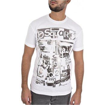 Textiel Heren T-shirts korte mouwen Dsquared S74GD0531 Wit