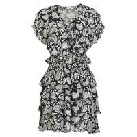 Textiel Dames Korte jurken Replay  Zwart / Wit