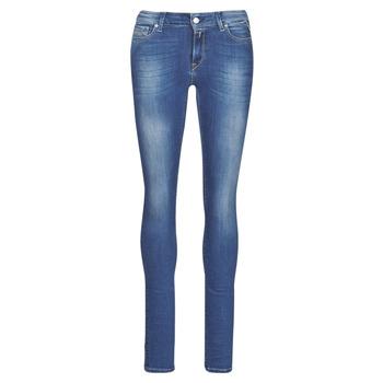 Textiel Dames Skinny Jeans Replay LUZ Blauw / Donker