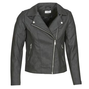Textiel Dames Leren jas / kunstleren jas Only ONLMELANIE BIKER Zwart