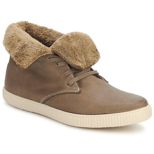 Schoenen Hoge sneakers Victoria SAFARI ALTA PIEL TINTADA PELO Taupe