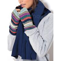 Accessoires Dames Handschoenen Admas Zachte sjaal blauw Adma's Blauw