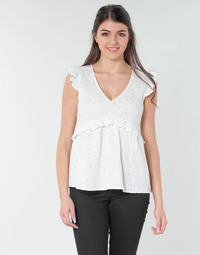 Textiel Dames Tops / Blousjes Betty London MOUDINE Wit / Goud
