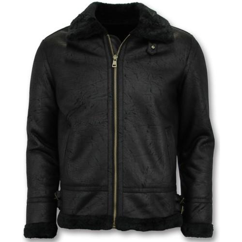 Textiel Heren Leren jas / kunstleren jas Tony Backer Shearling Jacket - Lammy Coat - Blauw