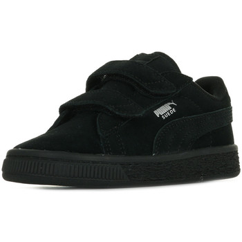 Schoenen Kinderen Lage sneakers Puma Suede 2 Straps Inf Zwart