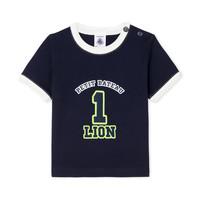 Textiel Jongens T-shirts korte mouwen Petit Bateau FUDGE Blauw