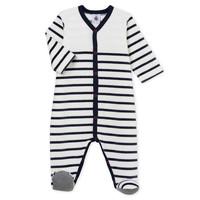 Textiel Kinderen Pyjama's / nachthemden Petit Bateau FUT Wit / Blauw