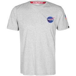 Textiel T-shirts korte mouwen Alpha NASA Space Shuttle Tee Grijs