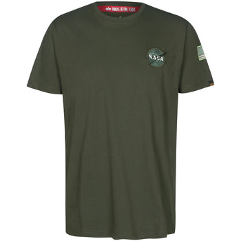Textiel T-shirts korte mouwen Alpha NASA Space Shuttle Tee Groen