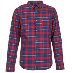 Textiel Heren Overhemden lange mouwen Rip Curl CONNECTION Rood / Blauw
